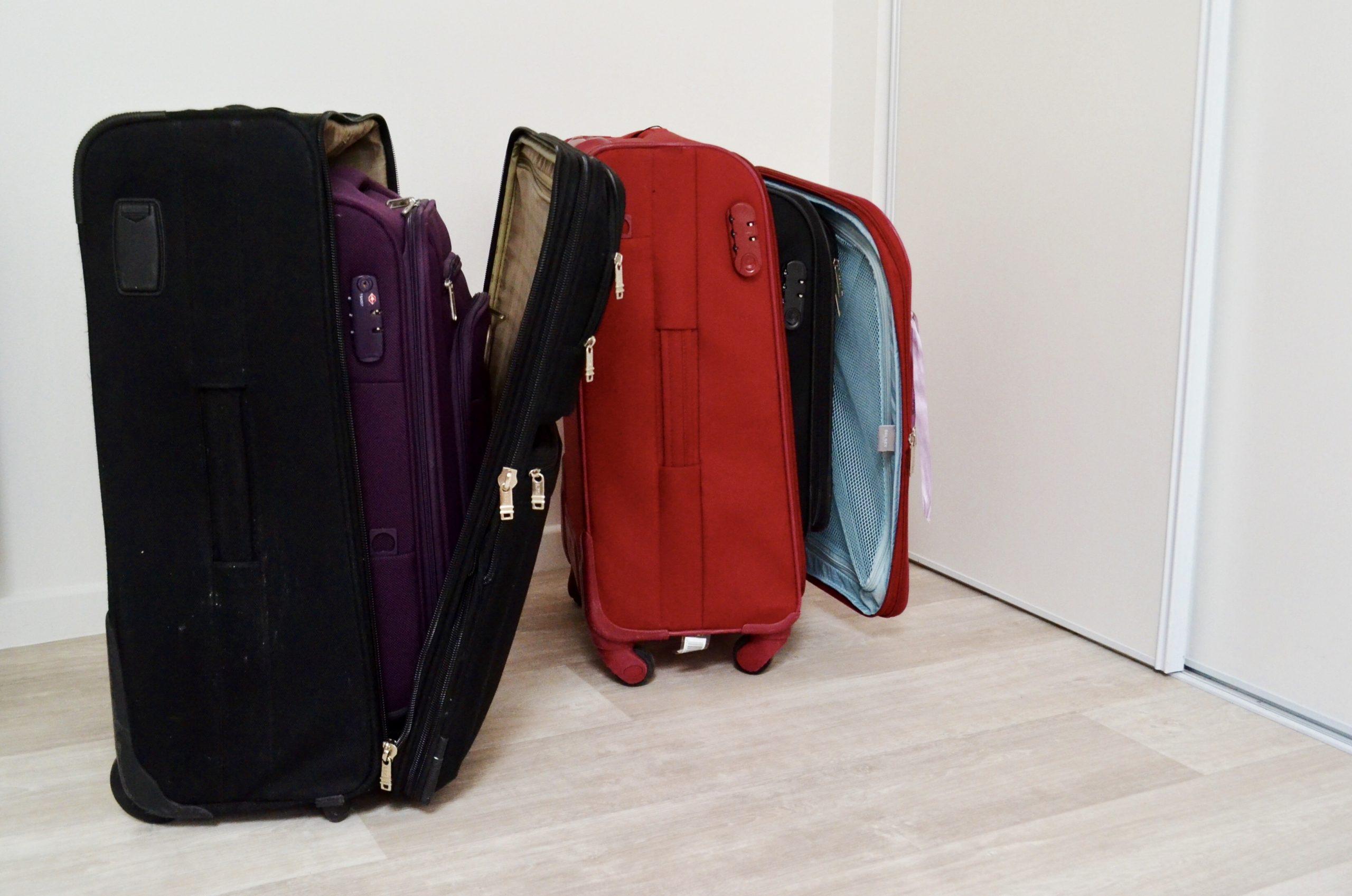 gain de place pour ranger les valises