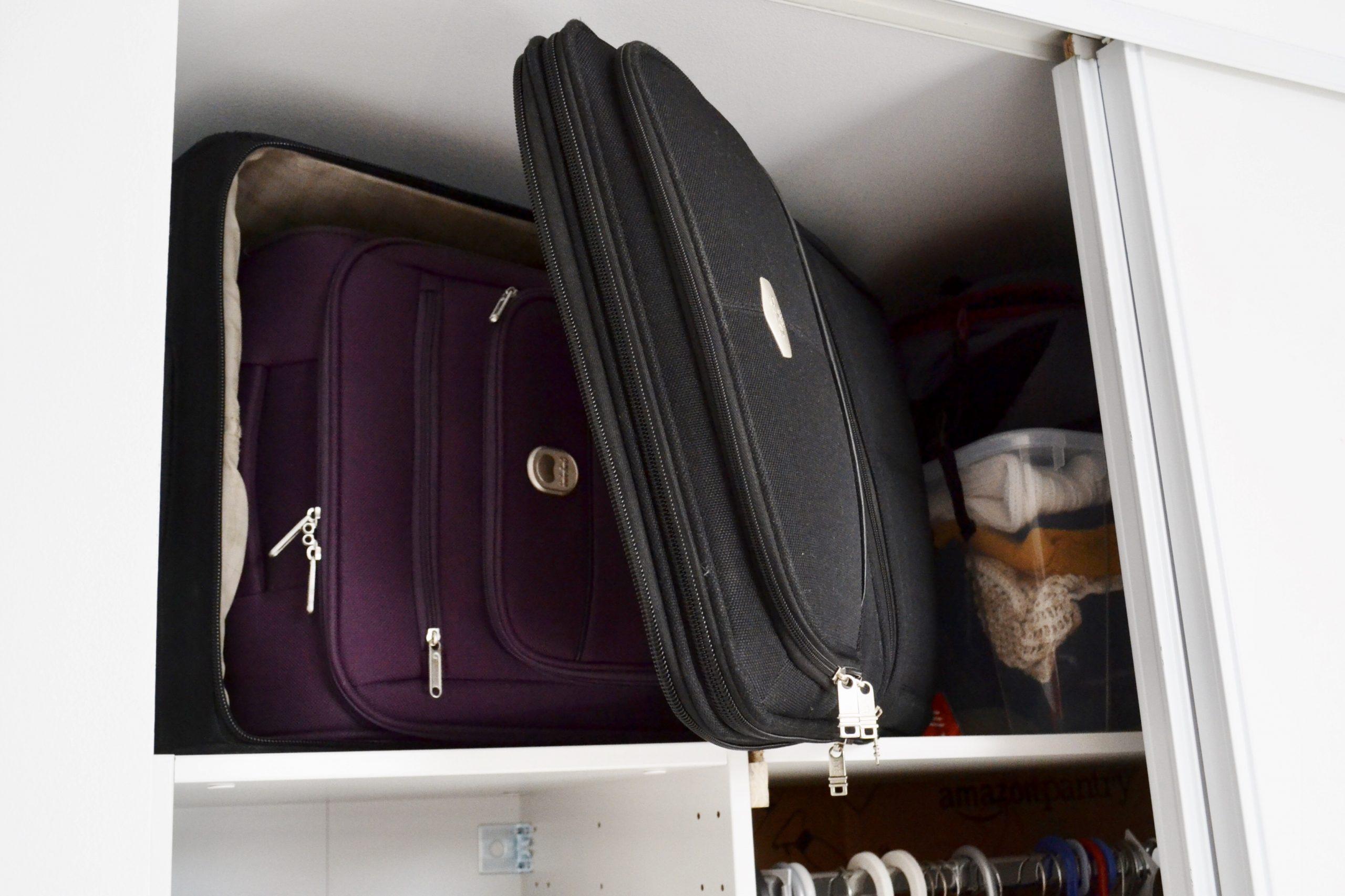 gain de place pour ranger la valise