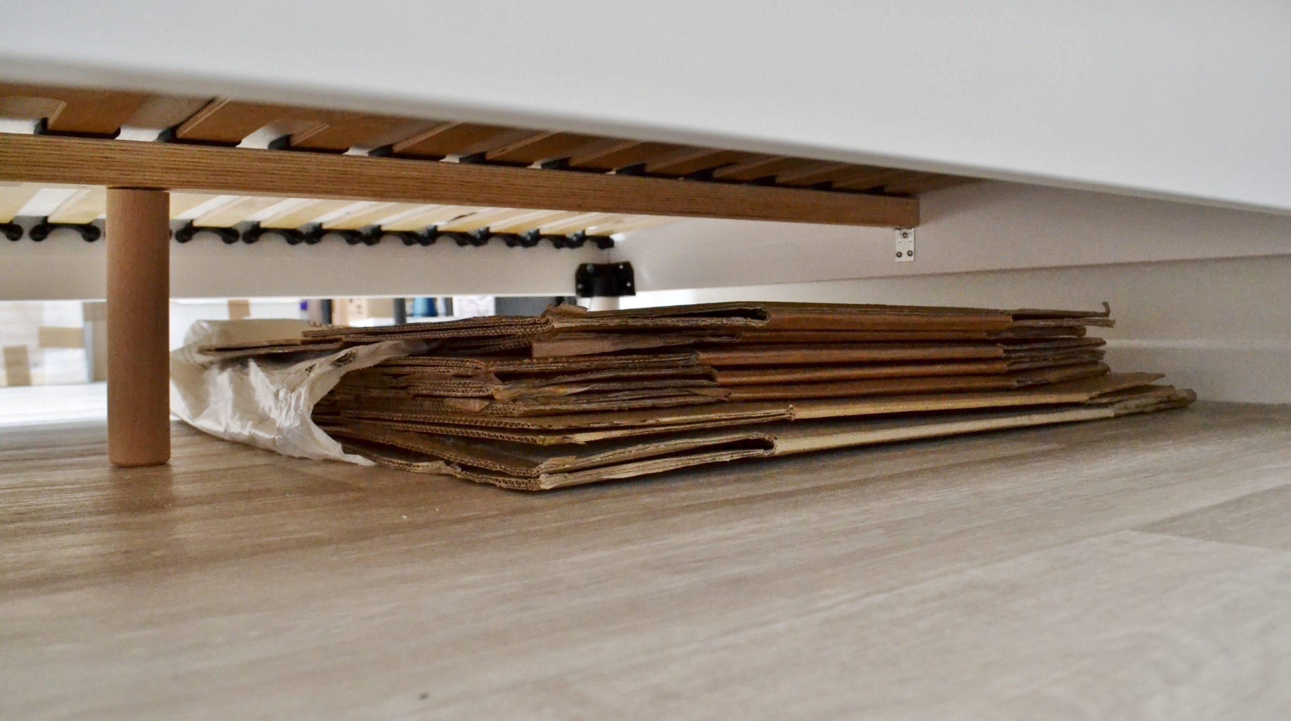 utiliser l'espace sous le lit