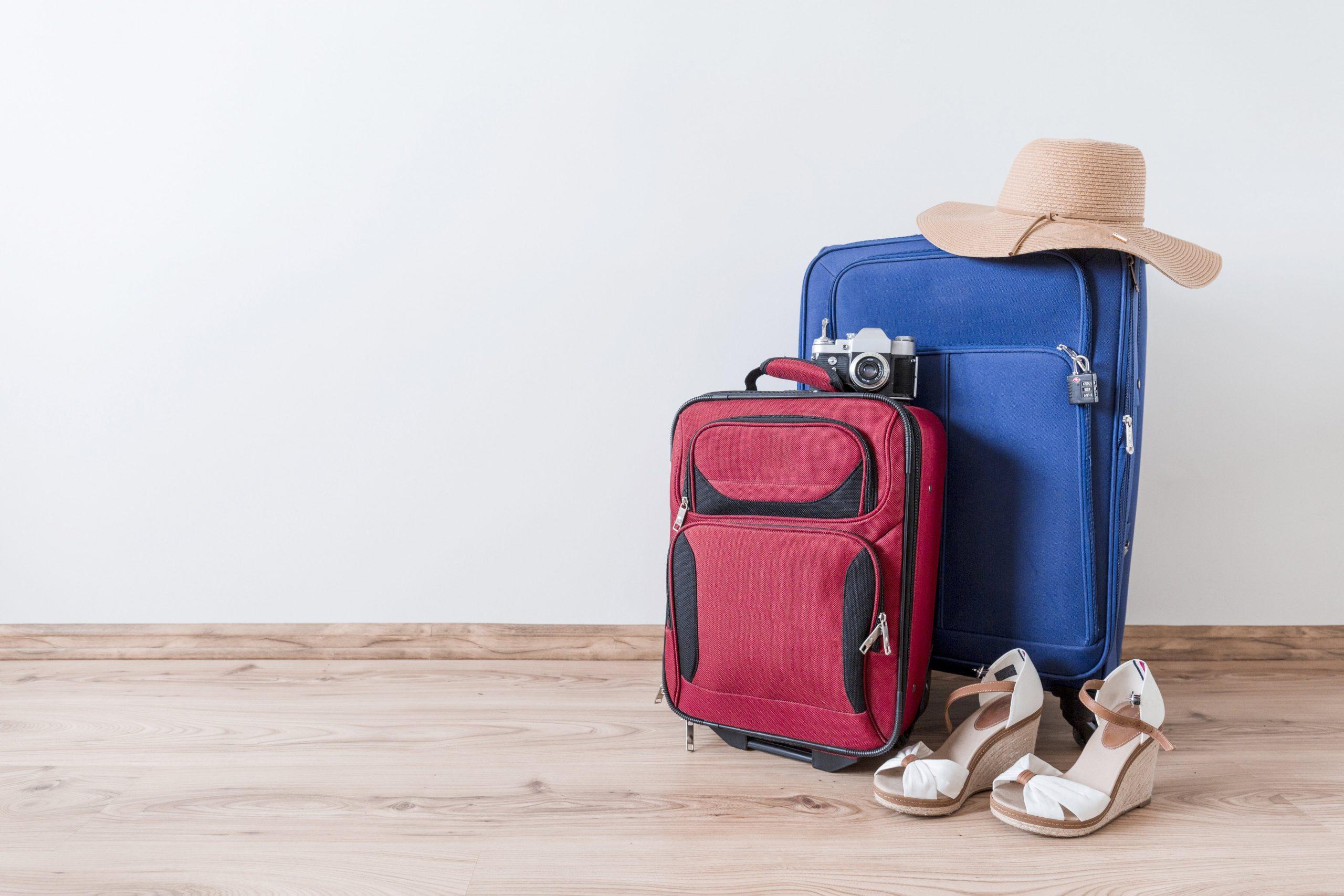2 valises de couleur