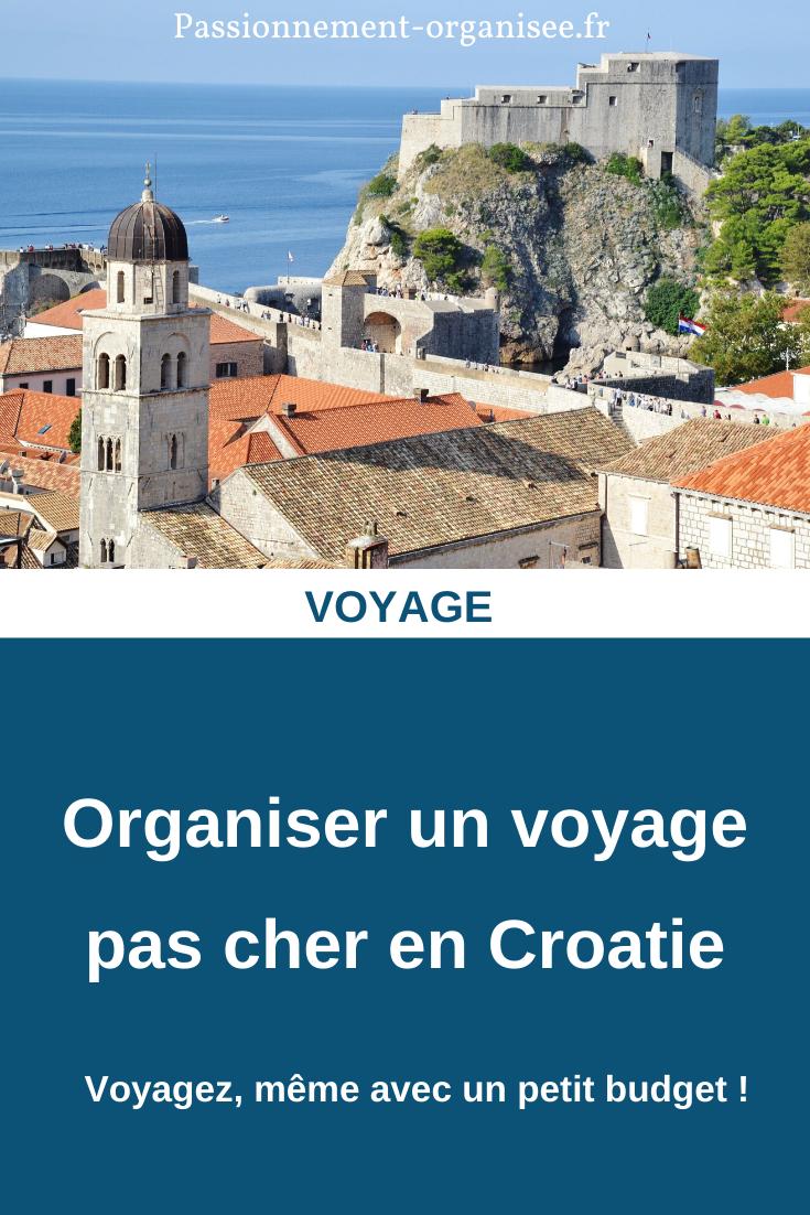 organiser un voyage pas cher en Croatie