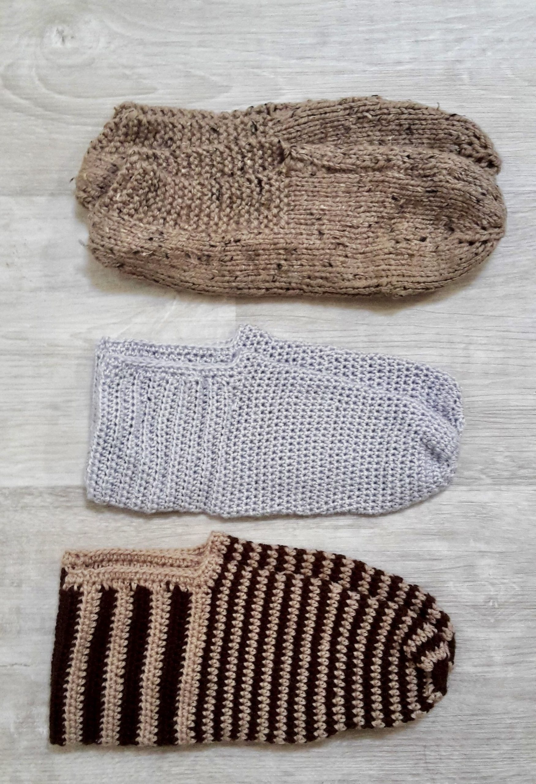 chaussons tricotés pour voyager