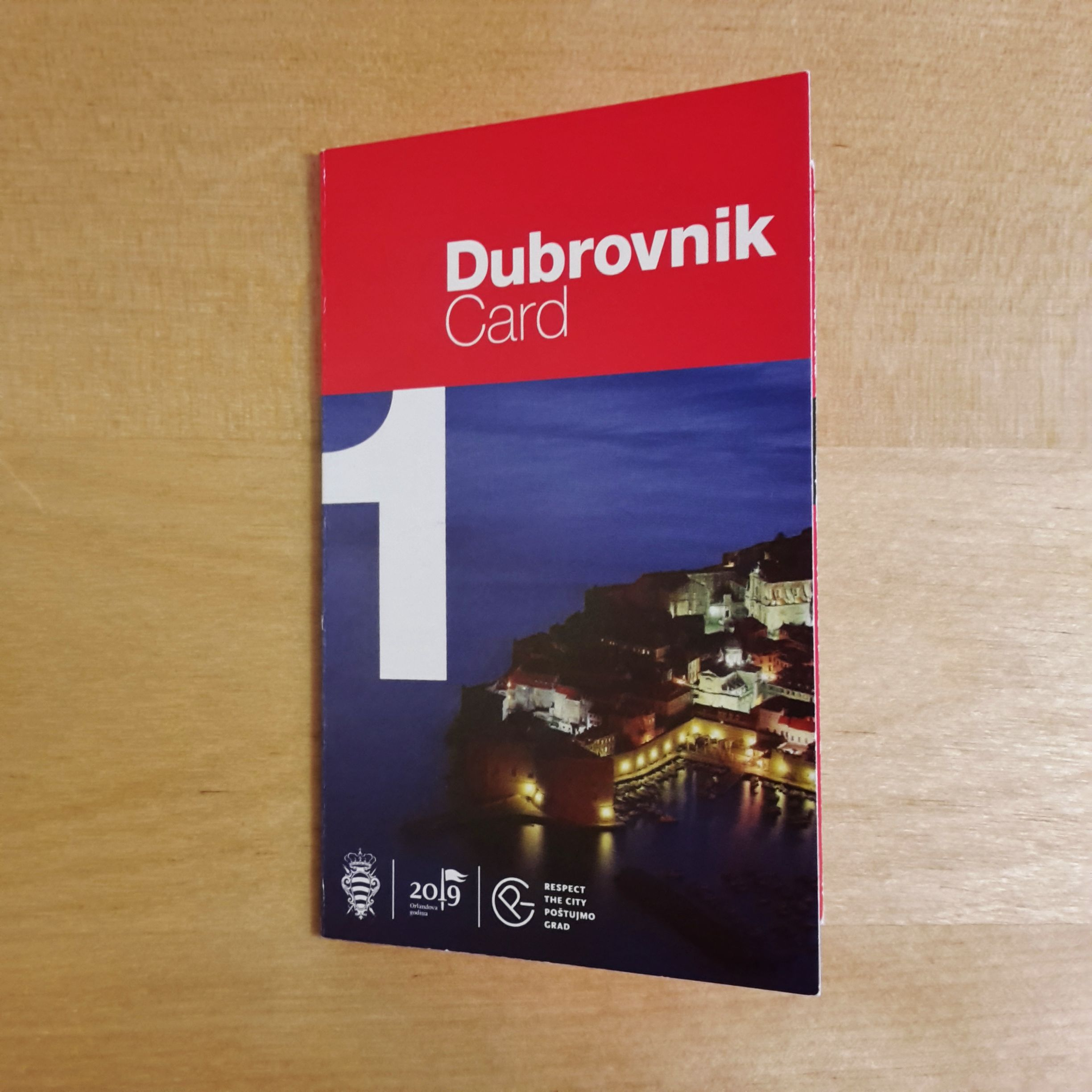 city card Dubrovnik de face