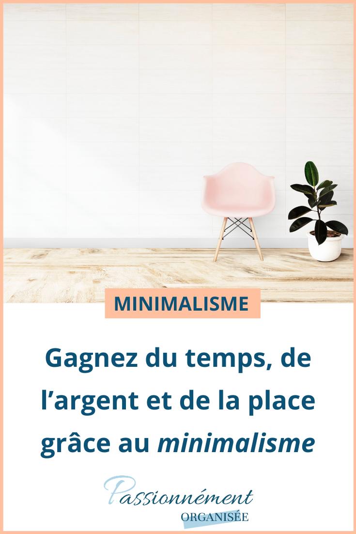 minimalisme, temps, argent, place