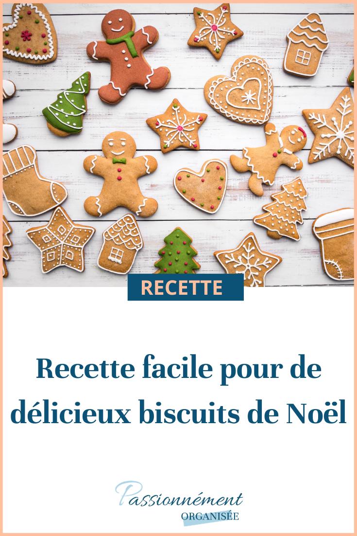 recette facile de biscuits de noel